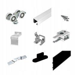 Czarny System Przesuwny do Drzwi Aluminiowych