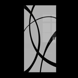 Drzwi Szklane Przesuwne 1050X2095 8MM ESG GEO14 + KASETA