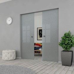 Drzwi Szklane Przesuwne 130(2X65) MILENIUM KASETA