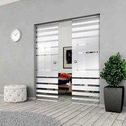 Drzwi Szklane Przesuwne 170(2X85) GEO3 KASETA