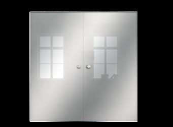 Drzwi Szklane Przesuwne 1900X2095 8MM ESG GEO SATYNA + KASETA