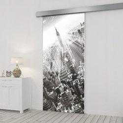 Drzwi Szklane Przesuwne 65 GR-H06 SILVER