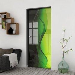 Drzwi Szklane Przesuwne 75 GR-H016 KASETA