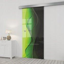 Drzwi Szklane Przesuwne 75 GR-H016 SILVER