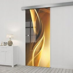 Drzwi Szklane Przesuwne 75 GR-H029 SILVER