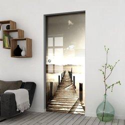 Drzwi Szklane Przesuwne 75 GR-H04 KASETA