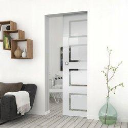 Drzwi Szklane Przesuwne 85 GEO12 KASETA