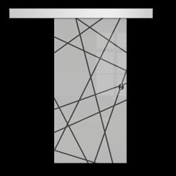 Drzwi Szklane Przesuwne  85 GEO6 SILVER