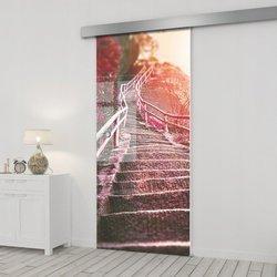Drzwi Szklane Przesuwne 85 GR-H010 SILVER