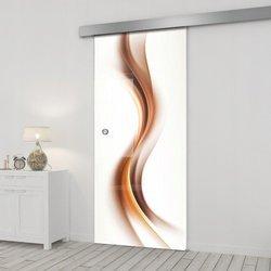 Drzwi Szklane Przesuwne 85 GR-H012 SILVER