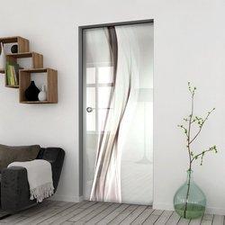 Drzwi Szklane Przesuwne 85 GR-H018 KASETA