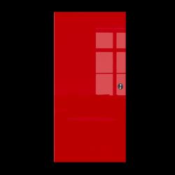 Drzwi Szklane Przesuwne 85 VSG CZERWONE KASETA
