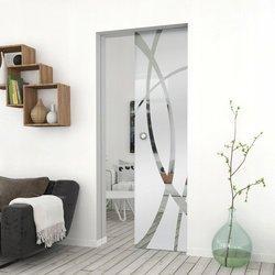 Drzwi Szklane Przesuwne 95 GEO14 KASETA