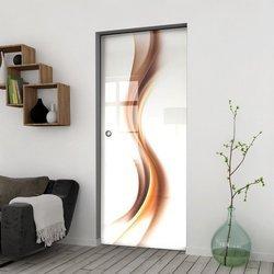 Drzwi Szklane Przesuwne 95 GR-H012 KASETA