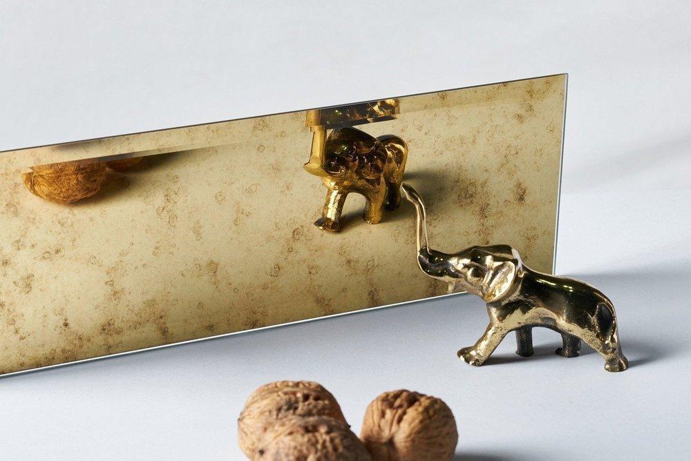 Kafelek lustrzany 10X30 4MM Faza Lustro Antyczne AG1 GOLD
