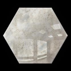 Kafelek lustrzany 183x160 Heksagon 4mm Szlif Poler Lustro Antyczne KG1 SILVER