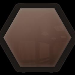 Kafelek lustrzany 183x160 hexagon 4mm Szlif Poler Brąz