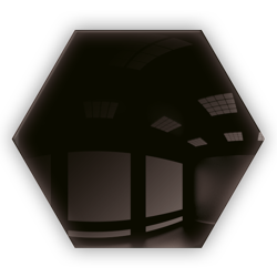 Kafelek lustrzany 183x160 hexagon 4mm Szlif Poler Czarne