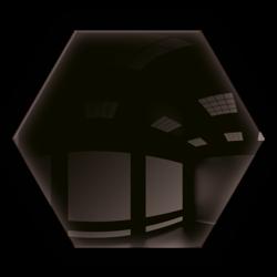 Kafelek lustrzany 25X21,6 Heksagon 4mm Szlif Poler Czarne