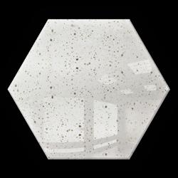Kafelek lustrzany 25X21,6 Heksagon 4mm Szlif Poler Lustro Antyczne DG2 SILVER