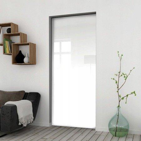 Drzwi Przesuwne 75 Płyta Białe Kaseta