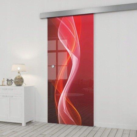 Drzwi Szklane Przesuwne 75 GR-H026 SILVER