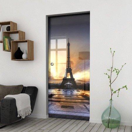Drzwi Szklane Przesuwne 750X2095 8MM ESG/VSG GRAFIKA 2STR GR-H05 + KASETA