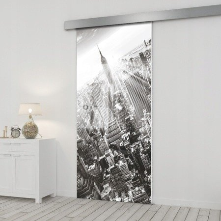 Drzwi Szklane Przesuwne 85 GR-H06 SILVER