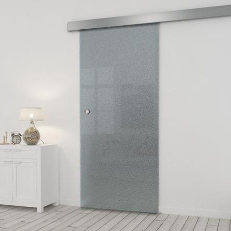 Drzwi Szklane Przesuwne 850X2095 8MM ESG MILENIUM + SYSTEM PRZESUWNY