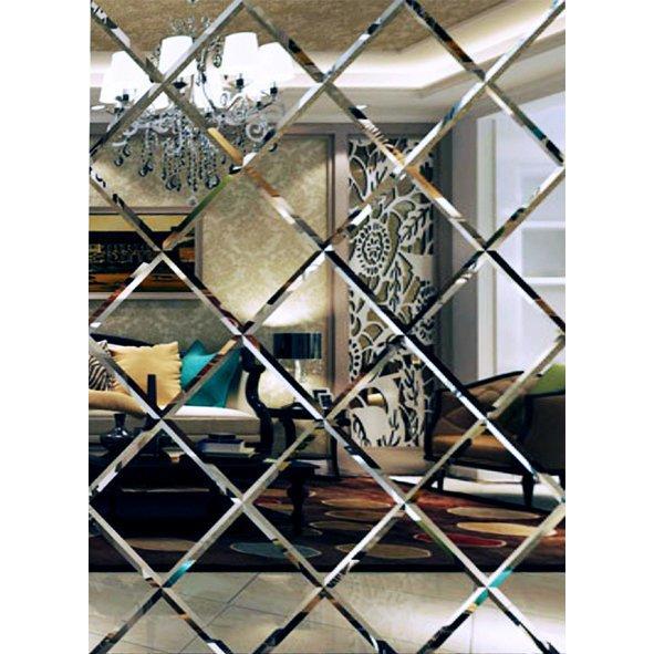 Lustro Fazowane Glamour Samoprzylepne 170x127