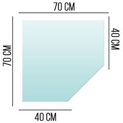 Podstawa Szklana Pod Piec Kominek Szkło 6mm 70x70 S1